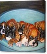 Funny Puppies Orginal Oil Painting Canvas Print