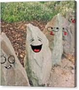 Funny Rocks Canvas Print