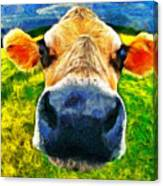 Funnycow Canvas Print