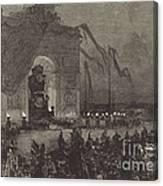 Fun?railles De Victor Hugo.  La Veill?e Canvas Print