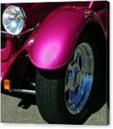 Fuschia Hot Rod Wheel  Canvas Print
