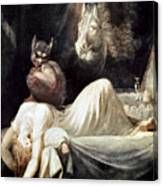 Fuseli: Nightmare, 1781 Canvas Print