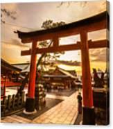 Fushimi Inari Taisha Shrine In Kyoto Canvas Print