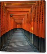 Fushimi Inari Taisha Shrine In Kyoto, Japan Canvas Print