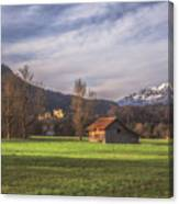Fussen Mountain Scene Canvas Print