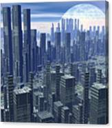 Futuristic City - 3d Render Canvas Print