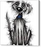 Fuzzy Dog Canvas Print