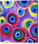 Fuzzy Purple Circles Canvas Print