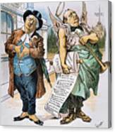 G. Cleveland Cartoon, 1892 Canvas Print