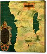 Gabon, Angola And Congo Canvas Print