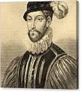 Gabriel De Lorges, Comte De Montgomery Canvas Print