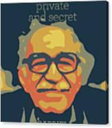 Gabriel Garcia Marquez Canvas Print