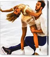 Gabriella Papadakis And Guillaume Cizeron Canvas Print