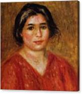 Gabrielle In A Red Blouse 1913 Canvas Print