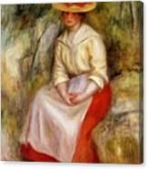 Gabrielle In A Straw Hat 1900 Canvas Print
