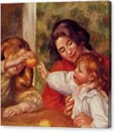 Gabrielle Jean And A Little Girl Canvas Print