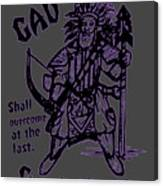 Gad At The Last-purple Trim Canvas Print