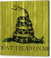 Gadsden Flag Barn Door Canvas Print