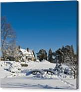 Gairloch House In Winter Canvas Print
