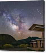 Galactic Picnic - Milky Way At Pyramid Lake Canvas Print