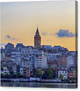 Galata Tower In The Morning. Canvas Print
