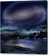 Galaxy Rise Canvas Print