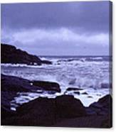 Gale Winds At Nubble Light Canvas Print