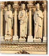 Galerie Des Rois Catherdrale Notre Dame De Paris France Canvas Print