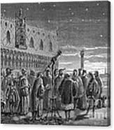 Galileo Demonstrates Telescope, 1609 Canvas Print