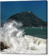 Gallinara Island Seastorm - Mareggiata All'isola Gallinara Canvas Print