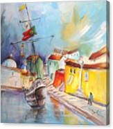Gallion In Vila Do Conde Canvas Print