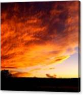 Gallo Peak Fiery Skies  Canvas Print