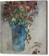 Gallon Can Florals Canvas Print