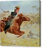 Galloping Horseman Canvas Print