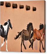 Galloping Horses Mural - Taos Canvas Print