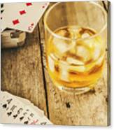 Gamblers Still Life Canvas Print