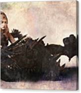 Game Of Thrones. Daenerys. Mother Of The Dragons. Canvas Print