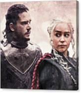 Game Of Thrones. Jon Snow And Daenerys Targaryen Canvas Print