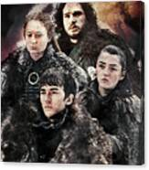 Game Of Thrones.the Last Of Stark. Canvas Print