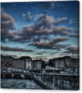 Stockholm In Dark Canvas Print