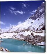 Gandharva Tal And Mount Shivaling Canvas Print