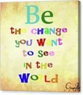 Gandhi Quote Canvas Print