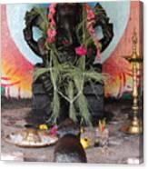 Ganesha With Pink Flowers, Valparai Canvas Print