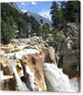 Ganges In Gangotri Close To Its Source Canvas Print