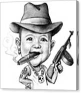 Ganster Child Caricature Canvas Print