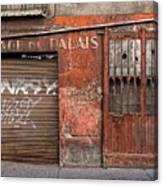 Garage Du Palais Canvas Print