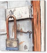 Garage Lock Number One Canvas Print