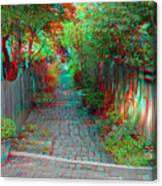 Garden Alley - Use Red-cyan 3d Glasses Canvas Print