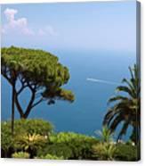 Garden And Bay Of Naples Canvas Print