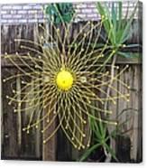 Yellow Sunflower Garden Art Canvas Print